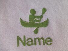 CANOË-KAYAK canoë brodé sur serviettes, robe de bain à capuchon avec