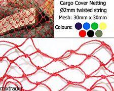 Filet de 30x30x2mm Twisted ficelle CARGO Bâche Protection résistant