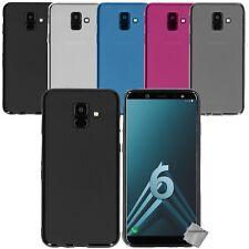 Housse etui coque silicone gel fine pour Samsung Galaxy A6 (2018) + film ecran