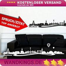 Wandtattoo Skyline Bochum Ruhrgebiet Pott Schauspielhaus Stadion Uni 80x16 cm