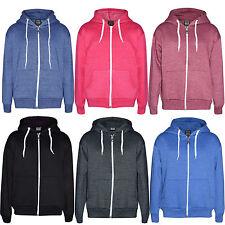 Unisex Girls Kids Boys Children New Plain Hood Hoodie Cotton Fleece Jacket 1-13