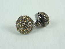 MIMCO Jewellery Crystal Dome Stud Earrings Smokey Quart