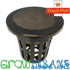 "Mesh Pot Net Basket 2"" 5cm Black Cloning Collar Insert Hydroponic Foam EZ Clone"
