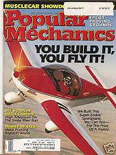 Popular Mechanics Aug 1997 Super Zodiac Sport Plane - Metal Framing -  Jet Boats