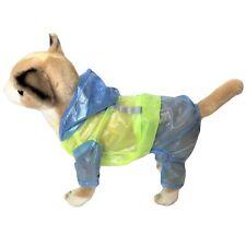 For SMALL Dog RainCoat Hooded Waterproof Coat Rain Jacket Pants REFLECTIVE Safe