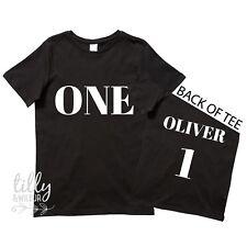 One Personalised Boys 1st Birthday T-shirt 1st Birthday Gift First Birthday Tee