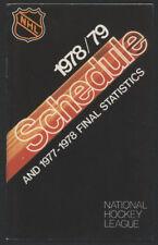 1978-79 NHL Hockey Schedule Booklet