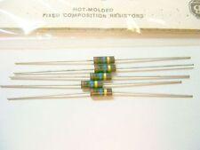5 Allen Bradley Carbon Comp Resistor 10 meg  1/2W 5%