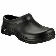 Skechers Mens 76778 Oswald Balder Slip On Resistant Black Work Clogs Shoes