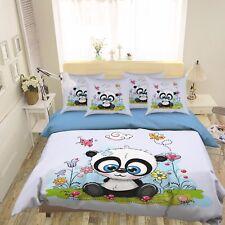 3D Garden Cute Panda 468 Bed Pillowcases Quilt Duvet Cover Set Single Queen CA