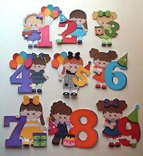 3D-U Pick-BD7 Birthday Boy Girl 1 2 3 4 5 6 7 8 9 Scrapbook Card P Embellishment