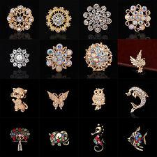 Wedding Bridal Gift Bouquet Silver Flower Rhinestone Crystal Brooch Pin Jewelry