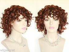 Medium Short Layered Spiral Curls Blonde Brunette Red Wavy Wigs