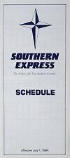Sud Espresso Airlines Timetable (tabella Orari) Luglio 1, 1984