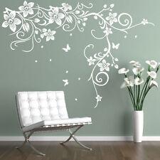 Papillon Vigne Fleur Vinyle Mur Art stickers, stickers muraux, Graphiques Muraux