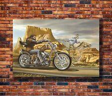 Art Ghost Rider David Mann Cult Bike -20x30 24x36in Poster - Hot Gift C1081