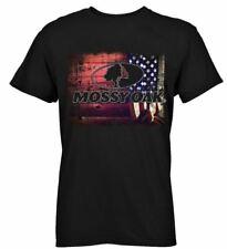 d9b6c67d9c000 NEW 100% Cotton Mens Mossy Oak Black American Flag Camo Short Sleeve Tee  Shirt !