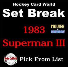 (HCW) 1983 Topps Superman III Near-Mint Set Break 1-99 - You Pick From List
