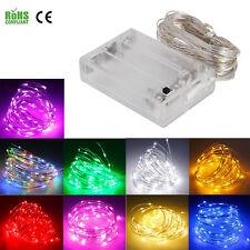 Waterproof LED String Lights 1M 4M 6M 7M 8M 9M Fairy Lights Battery Powered