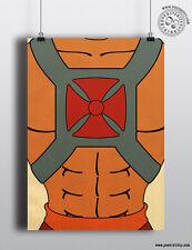 Heman (HE-MAN) - minimalista Tronco Poster, stampa sul petto minimo posteritty