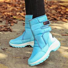 Plus Size Women Winter Mid-Calf Snow Boots Fur Lining Waterproof Platform Shoes#