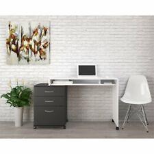 Nexera Essentials Home Writing Desk in White and Black
