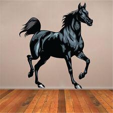 Black Horse Wall Decal Farm Horse Black Beauty Farm Vinyl Removable Art, c46