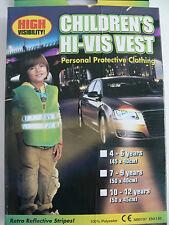 Children High Viz Hi Visibility Safety Fluorescent Yellow Vest Boy Girl Child