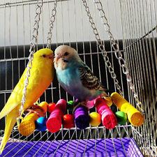 Ad_ Pet Bird Parrot Parakeet Budgie Cockatiel Cage Hammock Swing Toys Hanging To