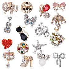 Fashion Butterfly Animals Flowers Rhinestone Crystal Brooch Pin Badge Jewelry