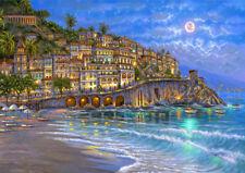 HD Print Art Landscape Beautiful Mediterranean sea Oil Painting Canvas Home Deco