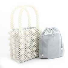 Magic Handbags Women Pure Pearl Handmade Bags Beaded Tote Evening Bag Clutch  Top cd902b2fd2d3