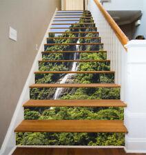 3D Mountains Stream Stair Risers Decoration Photo Mural Vinyl Decal Wallpaper CA