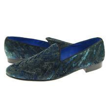 Fertini 2929 Velvet Loafer, Men's Slip-on Smoking Shoes, Blue