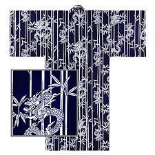 Japanese Robe Yukata Kimono Men's Drangon and Bamboo Design