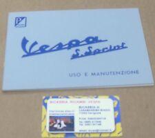 1388 LIBRETTO USO E MANUTENZIONE VESPA 90 SS SUPER SPRINT 1965 - 1971
