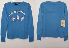 WETT Dry Goods Green or Blue California Junior Long Sleeve Crew Neck Top  M
