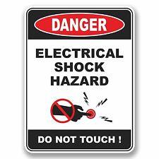 2 x 10cm Danger Electrical Shock Hazard Do Not Touch Vinyl Sticker Laptop #9673
