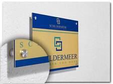 A4 Dibond® Aluverbund gold Firmenschild Praxisschild Werbeschild Kanzleischild