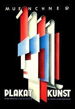 Bauhaus era Munich Arte Cartel artistas Verano 1931 Exposición A3 Cartel Reimpresión