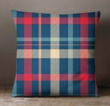 S4Sassy Check Pillow Cover Indian Cushion Case Multicolour Sofa Pillowcase Decor