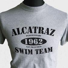 Alcatraz Swim Team 1962 T Shirt Escape From Cool Retro Fun Joke Al Capone Grey