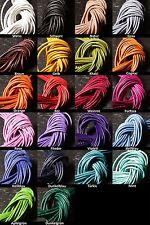 Lederband Rindsleder 2mm weich 1m lang rund viele aktuelle Farben, Steinschatz