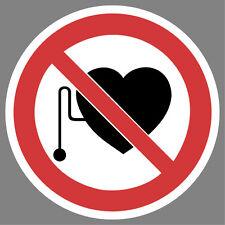 Personen mit Herzschrittmacher verboten Aufkleber Sticker Hinweis Verbotsschild