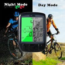 LCD Cablato Ciclismo Impermeabile Bicicletta Computer Tachimetro Contachilometri BSG