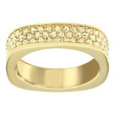 Vio anillo Swarovski piedras transparentes bañado en oro amarillo. 5139700 51121