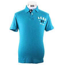 Aeropostale Men Short Sleeve Solid AERO 87 Polo Shirt Style 4244 Free Shipping
