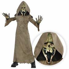 Infantil Segador Sombrío Marrón Capa Verde Pantano Zombie Disfraz Halloween