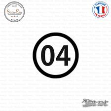 Sticker Département 04 Alpes Haute Provence digne les bains Decal Aufkleber