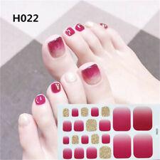 Nail Art Sparkle Glitter Rainbows Toe Nail Wraps Full Cover Polish Foot Stickers